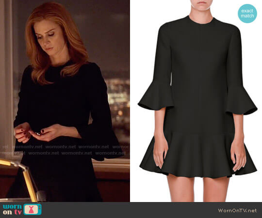 Valentino Flared-Trim 3/4-Sleeve Dress worn by Donna Paulsen (Sarah Rafferty) on Suits