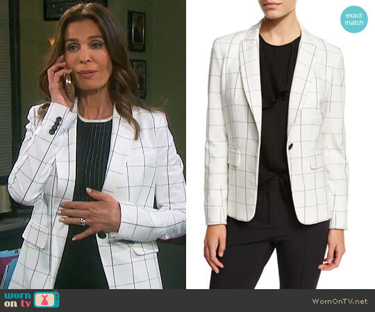 Veronica Beard Clubhouse Cutaway Jacket worn by Kristian Alfonso on Days of our Lives