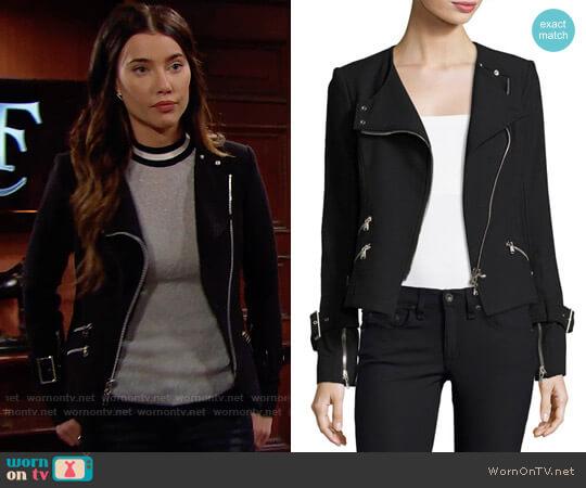 Veronica Beard Jordan Jacket worn by Steffy Forrester (Jacqueline MacInnes Wood) on The Bold & the Beautiful