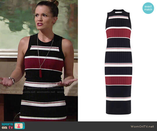 Veronica Beard Macgraw Dress worn by Melissa Claire Egan on The Young & the Restless