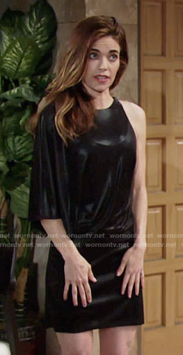 Victoria's black one-sleeved dress on The Young and the Restless