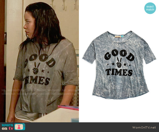 Vintage Havana Girls' Good Times Tee worn by Cierra Ramirez on The Fosters