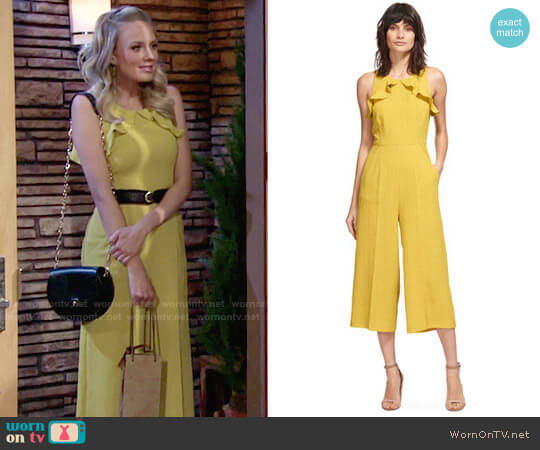 Whistles Mae Jumpsuit worn by Melissa Ordway on The Young & the Restless
