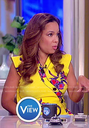 Sunny's yellow floral print maxi dress on The View