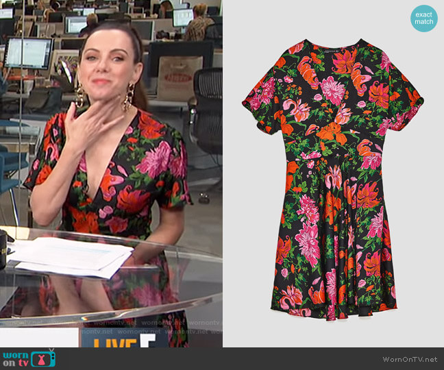 Mini Dress With Print by Zara worn by Melanie Bromley on E! News