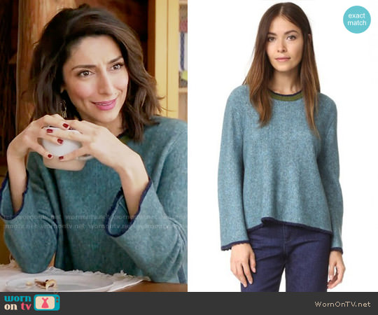 3.1 Phillip Lim Long Sleeve Crew Neck Sweater worn by Necar Zadegan on GG2D