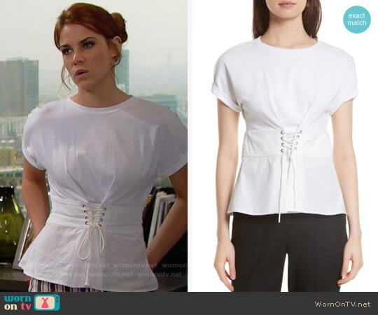 3.1 Phillip Lim Corset Waist Top worn by Sally Spectra (Courtney Hope) on The Bold & the Beautiful