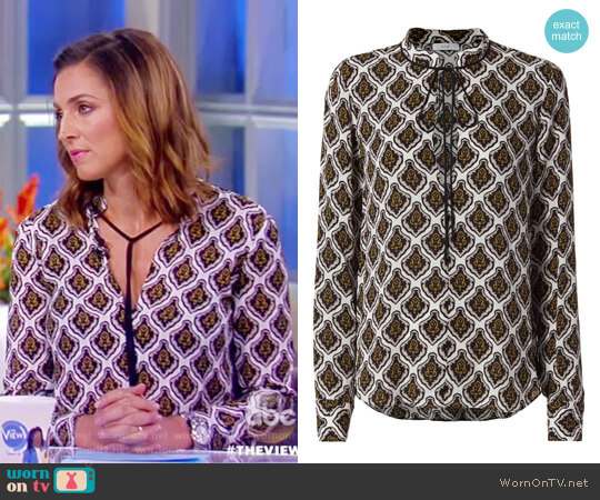 Danielle Woven Mombasa Blouse by ALC worn by Paula Faris on The View