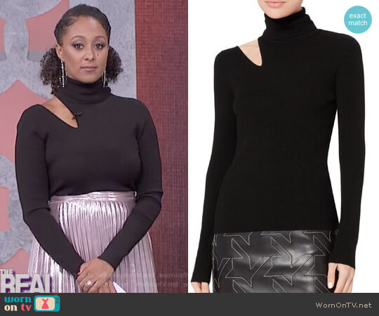 'Kara' Fitted Sweater by A.L.C. worn by Tamera Mowry on The Real
