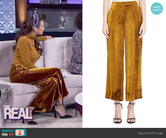 'Robbie' Pants by A.L.C. worn by Jeannie Mai  on The Real