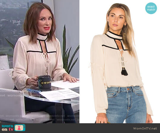 Carmin Blouse by Ale by Alessandra x Revolve worn by Catt Sadler on E! News