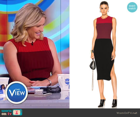 Mariana Rib-Knit Fitted Dress by Altuzarra worn by Sara Haines on The View