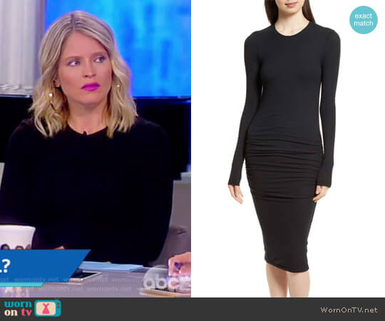 Ribbed Stretch Jersey Dress by Anthony Thomas Melillo worn by Sara Haines  on The View