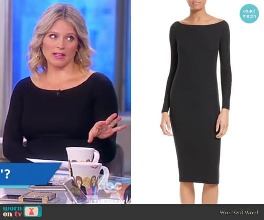 Off the Shoulder Rib Dress by Anthony Thomas Melillo worn by Sara Haines on The View