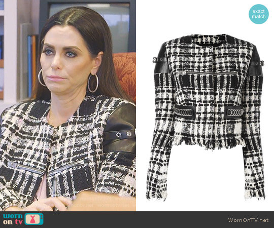 Cropped boucle Jacket by Alexander Wang worn by D'Andra Simmons  on The Real Housewives of Dallas
