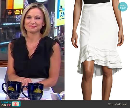 Cynda Ruffled Peplum Skirt by Alexis worn by Amy Robach (Amy Robach) on Good Morning America