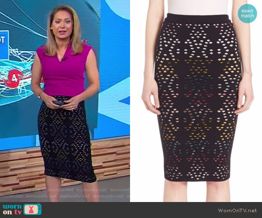 'Ani' Skirt by Alice + Olivia worn by Ginger Zee (Ginger Zee) on Good Morning America