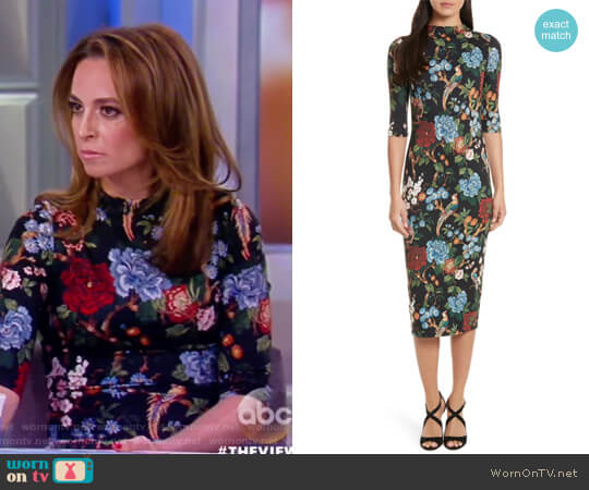 Wornontv Jedediah S Floral High Neck Dress On The View