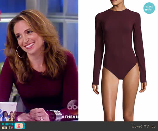 Leroy Microfiber Thong Bodysuit by Alix worn by Jedediah Bila  on The View