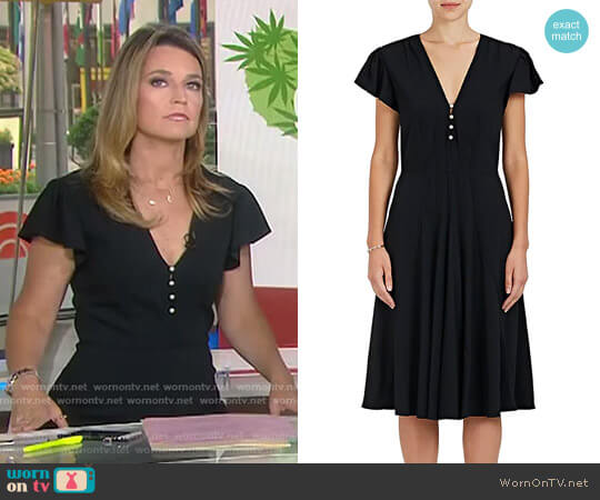 'Camilla' Crepe Flared Dress by Altuzarra worn by Savannah Guthrie on Today