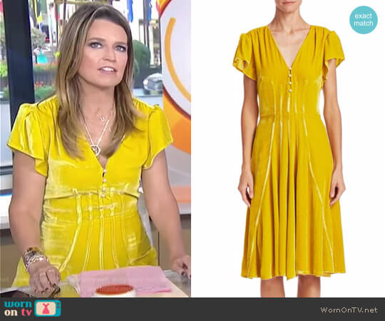 'Camilla' Velvet Dress by Altuzarra worn by Savannah Guthrie on Today