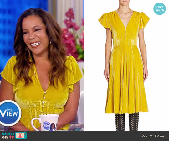 Camilla Velvet Dress by Altuzarra worn by Sunny Hostin on The View