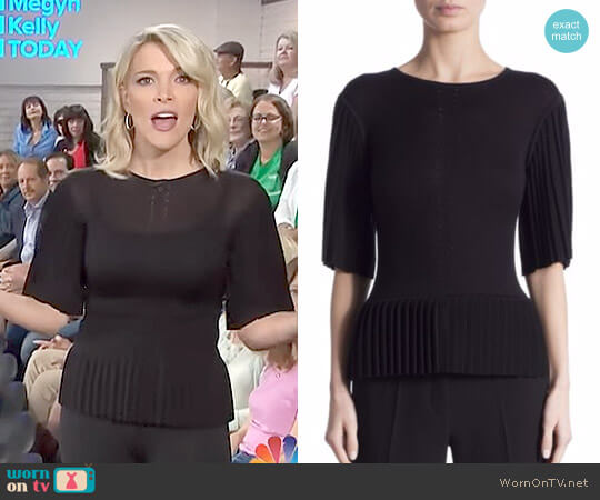 'Tamora' Pleated Silk & Cotton Top by Altuzarra worn by Megyn Kelly  on Today