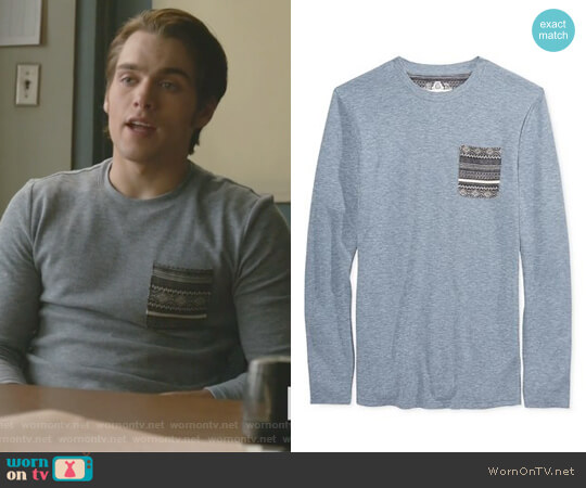 Men's Pocket Thermal Shirt by American Rag worn by Dylan Sprayberry on Teen Wolf