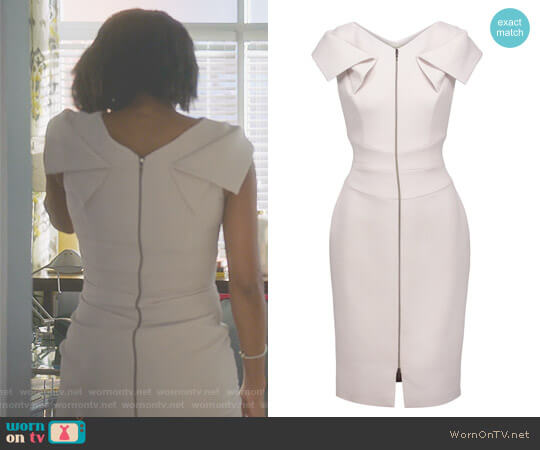 Stretch-crepe dress by Antonio Berardi worn by Gabrielle Union on Being Mary Jane
