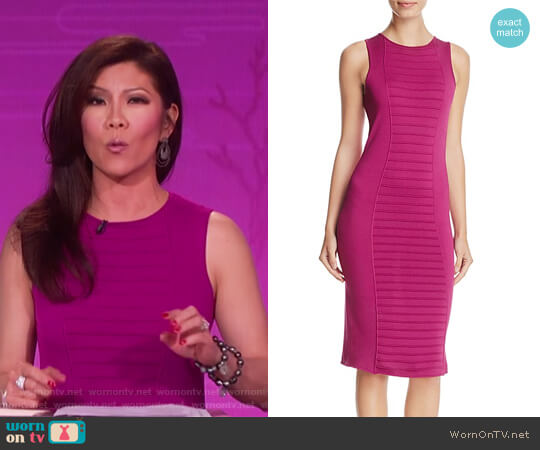 Ribbed-Detail Dress by Armani Collezioni worn by Julie Chen  on The Talk