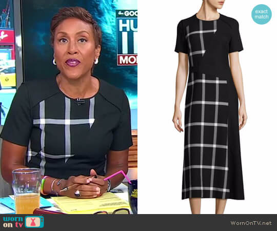 'Dilarea' A-Line Dress by BOSS worn by Robin Roberts on Good Morning America
