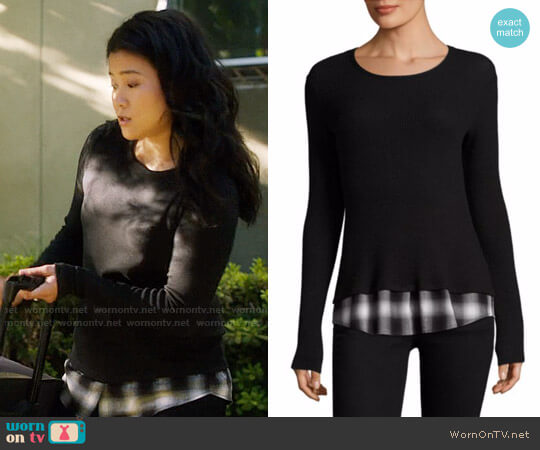 Bailey 44 Tour De Force Layered Sweater worn by Jadyn Wong on Scorpion
