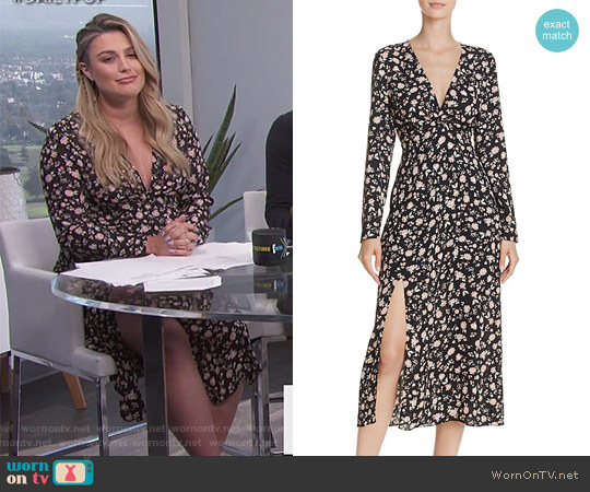 Slit Floral Print Dress by Bardot worn by Carissa Loethen Culiner on E! News
