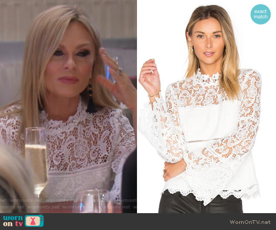 Sansa Lace Top by Bardot x Revolve worn by Tamra Judge on The Real Housewives of Orange County