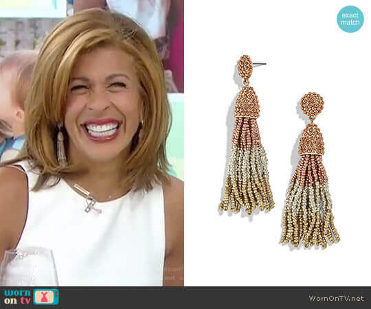 Pinata Tassel Earrings in Rose Gold/Silver/Gold by Baublebar worn by Hoda Kotb on Today