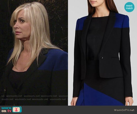 Bcbgmaxazria Oscar Blazer worn by Ashley Abbott (Eileen Davidson) on The Young & the Restless