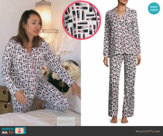 Bella Knit Pajama Set by Cosabella worn by Kelly Dodd  on The Real Housewives of Orange County