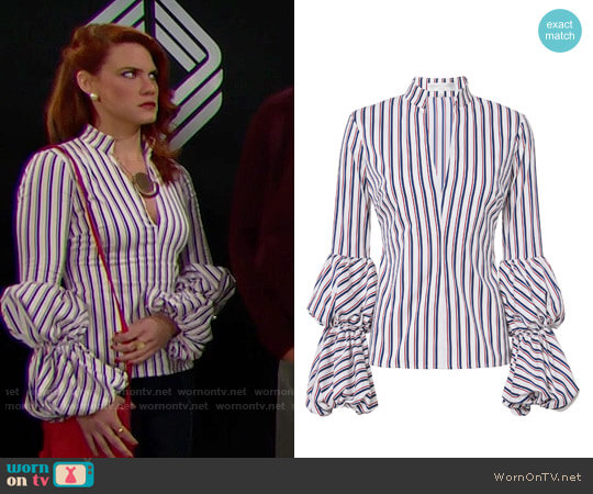 Caroline Constas Yasmin Top worn by Courtney Hope on The Bold & the Beautiful