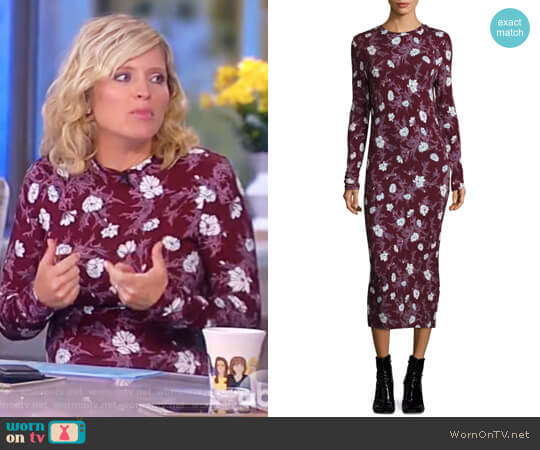 Long Jersey Floral Dress by Carven worn by Sara Haines on The View