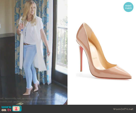 So Kate Patent Leather Pumps by Christian Louboutin worn by Stephanie Hollman on The Real Housewives of Dallas