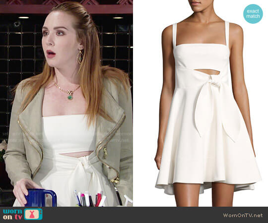 Cinq a Sept Nyma Dress worn by Camryn Grimes on The Young & the Restless