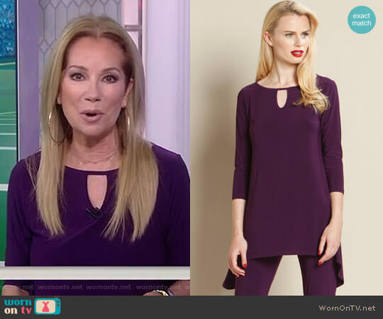 Keyhole Front Tunic by Clara Sunwoo worn by Kathie Lee Gifford on Today