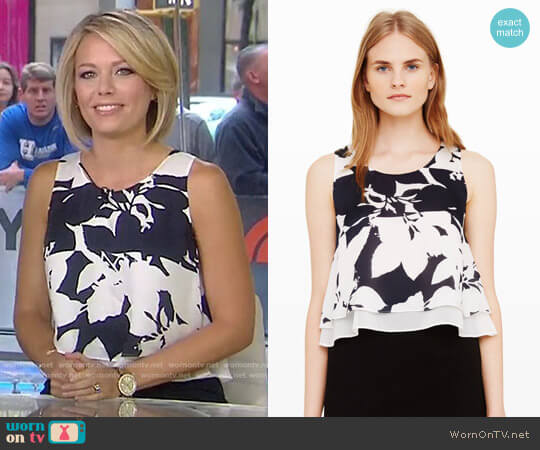 'Sawicka' Silk Crop Top by Club Monaco worn by Dylan Dreyer  on Today
