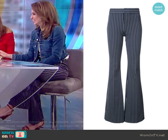 Flared Pinstripe Trousers by 10 Crosby by Derek Lam worn by Jedediah Bila  on The View