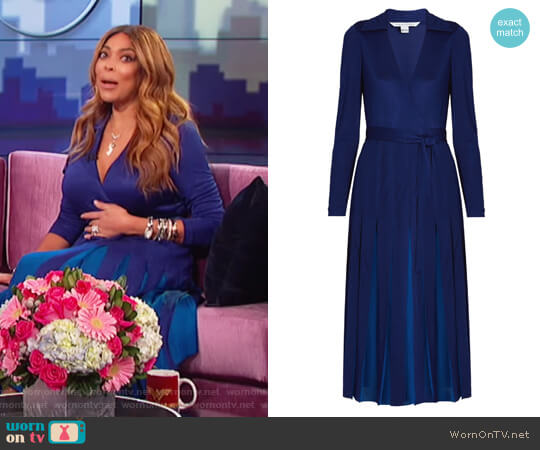 Stevie Dress by Diane von Furstenberg worn by Wendy Williams on The Wendy Williams Show