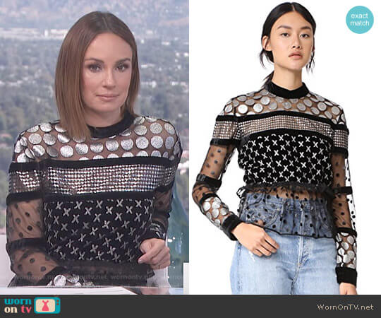 'Amaliya' Blouse by Dodo Bar Or worn by Catt Sadler on E! News