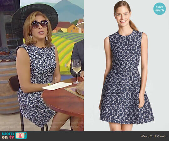 Austin Jacquard Dress by Draper James worn by Hoda Kotb on Today