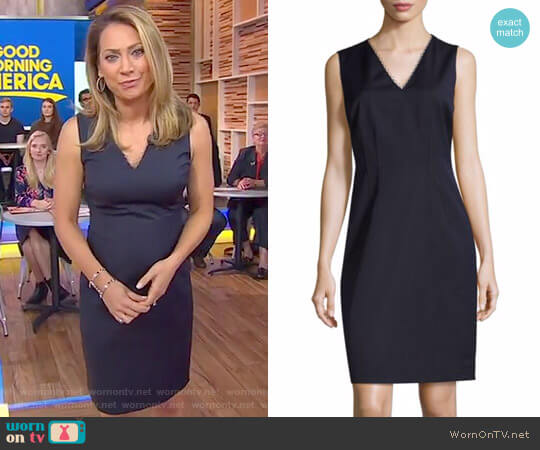 'Linzi' Embellished Shift Dress by Elie Tahari worn by Ginger Zee on Good Morning America