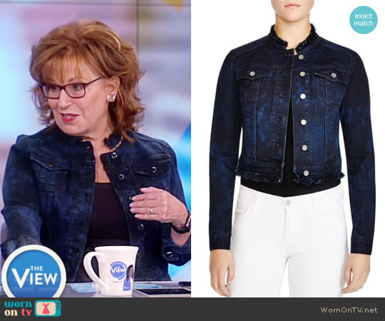 Meggie Lace Back Denim Jacket byu Elie Tahari worn by Joy Behar on The View