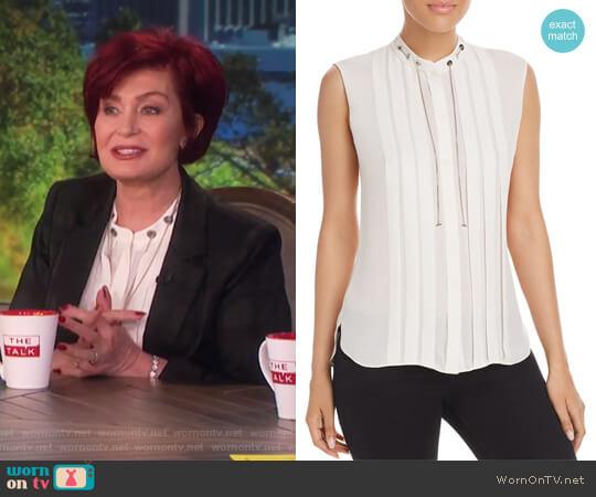Terri Blouse by Elie Tahari worn by Sharon Osbourne  on The Talk